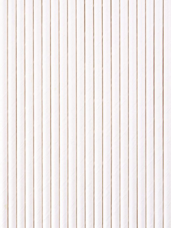 Бумажные трубочки для напитков белые