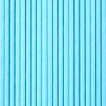 Бумажные трубочки для напитков голубые