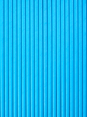 Бумажные трубочки для напитков синие
