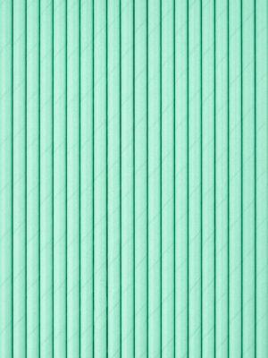 Бумажные трубочки для напитков зеленые